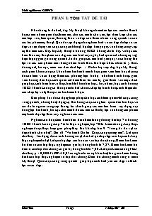 Giáo án Mỹ Thuật Lớp 7 - Đề tài nghiên cứu KHSPƯD