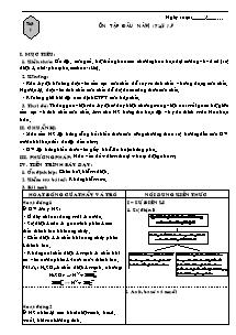 Giáo án Hóa học Lớp 12 - Chương trình cả năm - Nguyễn Minh Tâm