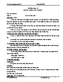 Giáo án Hoạt động ngoài giờ lên lớp Khối 9 - Chương trình cả năm - Năm học 2012-2013 - Nguyễn Văn Trung