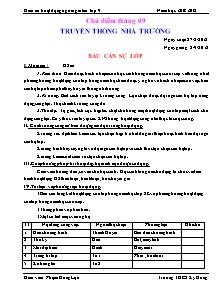 Giáo án Hoạt động ngoài giờ lên lớp Khối 9 - Chương trình cả năm - Năm học 2012-2013 - Phạm Hồng Lựu