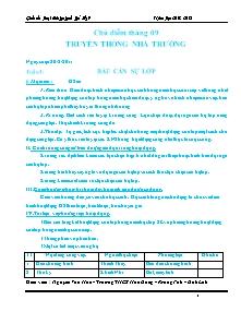 Giáo án Hoạt động ngoài giờ lên lớp Khối 9 - Chương trình cả năm - Năm học 2012-2013 - Nguyễn Văn Hoa