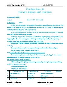 Giáo án Hoạt động ngoài giờ lên lớp Khối 9 - Chương trình cả năm - Năm học 2011-2012 - Bùi Thị Hồng Hạnh