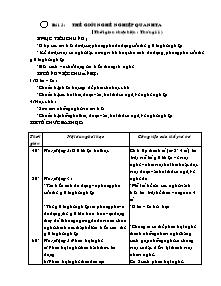 Giáo án Hướng nghiệp Lớp 9 - Bài 3 đến 5