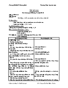 Giáo án Lớp 3 (Buổi sáng) - Tuần 1 đến 7 - Năm học 2012-2013 - Nguyễn Thị Bích Thủy