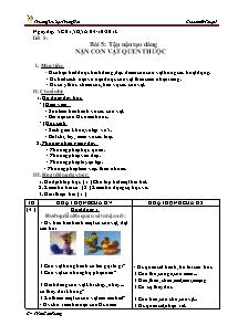 Giáo án Mĩ thuật Lớp 4 - Tiết 5 - Trường Tiểu học Trung Hải - Trần Cẩm Phong