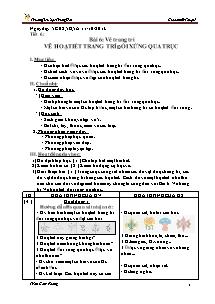 Giáo án Mĩ thuật Lớp 4 - Tiết 6 - Trường Tiểu học Trung Hải - Trần Cẩm Phong