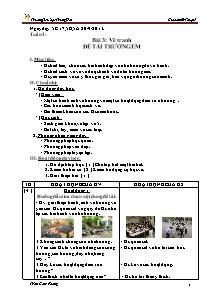 Giáo án Mĩ thuật Lớp 5 - Tiết 3 - Trường Tiểu học Trung Hải - Trần Cẩm Phong