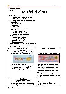 Giáo án Mĩ thuật Lớp 5 - Tiết 30 - Trường Tiểu học Trung Hải - Trần Cẩm Phong