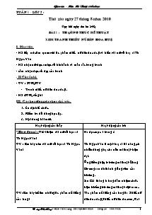 Giáo án Mĩ thuật Tiểu học - Trường Tiểu học Đôn Nhân - Năm học 2010-2011 - Dương Thị Hồng