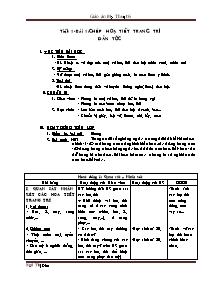 Giáo án môn Mỹ thuật Lớp 6 - Chương trình cả năm - Ngô Thị Đào