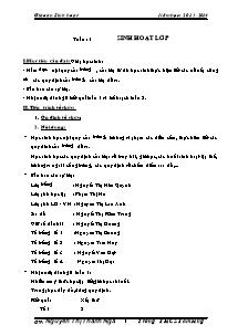 Giáo án Sinh hoạt Lớp 9 - Chương trình cả năm - Năm học 2013-2014 - Nguyễn Thị Thanh Nga