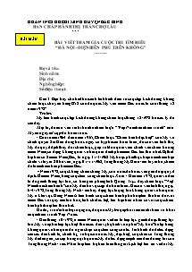 """Bài viết tham gia cuộc thi tìm hiểu """"Hà Nội - Điện Biên Phủ trên không"""""""