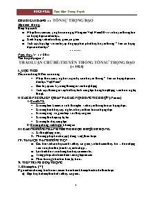 Chủ điểm tháng 11 - Tôn sư trọng đạo - Dương Huynh (Bản chuẩn)