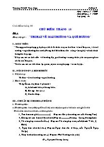 Giáo án GDCD Lớp 9 - Chủ điểm tháng 10 - Trường THCS Tân Hợp - Năm học 2009-2010 - Nguyễn Hoàng Long