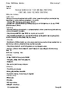 Giáo án GDCD Lớp 9 - Tiết 16 đến 18 - Trường THCS Lương Hoà Lạc - Lê Minh Đức