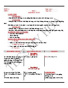Giáo án GDCD Lớp 9 - Tuần 1 - Bài 1 - Chí công vô tư