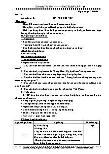 Giáo án hoạt động ngoài giờ lên lớp 9 - THCS Liên Lập - Năm học 2005-2006 - Dương Thị Yến