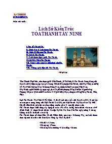 Giáo án Lịch sử - Lịch sử kiến trúc tòa thánh tây ninh