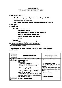 Giáo án Mĩ thuật Lớp 2 - Bài 18 - Vẽ màu vào hình có sẵn