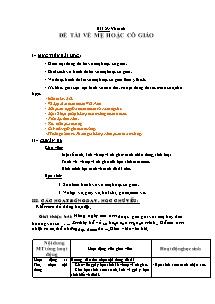 Giáo án Mĩ thuật Lớp 2 - Bài 23 - Vẽ tranh Đề tài về mẹ hoặc cô giáo