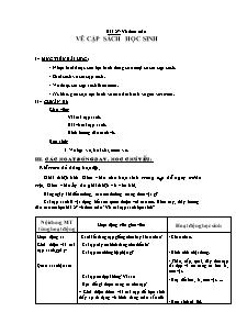 Giáo án Mĩ thuật Lớp 2 - Bài 27 - Vẽ cặp sách học sinh