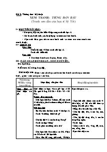 Giáo án Mĩ thuật Lớp 2 - Bài 8 - Xem tranh Tiếng đàn bầu