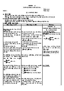 Giáo án Môn toán Lớp 9 - Chương I - Căn bậc hai, căn bậc ba
