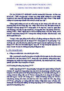 Tham luận) giải pháp ứng dụng CNTT trong Trường THCS Nhân Nghĩa
