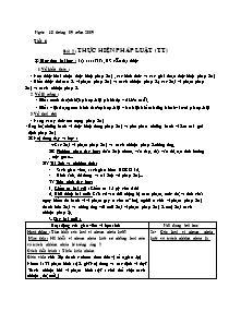 Giáo án Giáo dục công dân Lớp 12 - Tiết 6 - Bài 2: Thực hiện pháp luật - Năm học 2009-2010