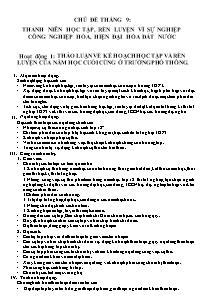 Giáo án Hoạt động ngoài giờ Lên lớp (Bản chuẩn)
