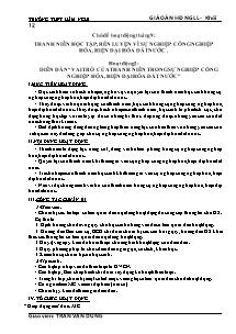Giáo án Hoạt động ngoài giờ lên lớp Khối 12 - Trần Văn Dũng