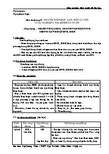 Giáo án Hoạt động ngoài giờ lên Lớp - Ngô Quang Tuấn