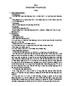 Giáo án Giáo dục công dân Lớp 12 - Bài 2: Thực hiện pháp luật (Bản đẹp 2 cột)