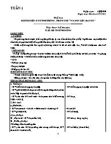 Giáo án Lớp 3 - Tuần 1 - Năm học 2010-2011 - Lê Thị Hạnh