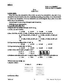 Giáo án Lớp 3 - Tuần 33 - Năm học 2012-2013 - Lê Thị Hạnh