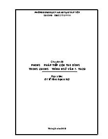 Chuyên đề Phương pháp tiếp cận thơ đường trong chương trình Ngữ Văn 7 - Năm học 2011-2012 - Trường THCS Đại Hóa