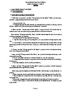 Đề cương môn Ngữ Văn Lớp 9 - Chương trình học kì 2