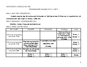 Đề kiểm tra môn Lịch sử Lớp 9 - Học kì 2 - Sở giáo dục và đào tạo Hà Nội