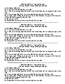 Đề kiểm tra môn Ngữ Văn Lớp 7 - Học kì 2