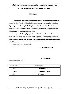 Đề tài nghiên cứu Khoa học: Phương Pháp Gợi Mở Trong Dạy Học Mụn My Thuật ở trường THCS Thụy Sơn – Thái Thụy – Thái Bình - Đỗ Xuân Hiệp