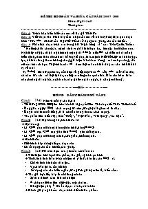 Đề thi học sinh giỏi môn Ngữ Văn Lớp 8 (Bản đầy đủ)