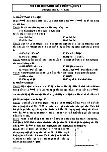 Đề thi học sinh giỏi môn Vật Lý 8 - Đề số 2
