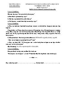 Đề thi khảo sát chất lượng môn Ngữ Văn Lớp 7 - Học kì 2 - Năm học 2013-2014 - Trường THCS Tân Trường
