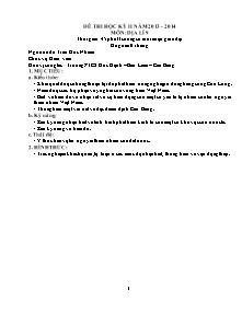Đề thi môn Địa lí Lớp 9 - Học kì 2 - Năm học 2013-2014 - Trần Đức Nhâm