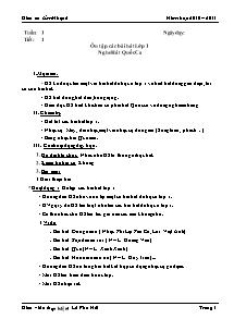 Giáo án Âm nhạc Lớp 2 - Tiết 1 đến 35 - Năm học 2010-2011 - Lê Phú Hải