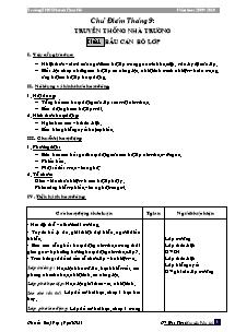 Giáo án Hoạt động ngoài giờ Lên Lớp 7 - Năm học 2009-2010 - Nguyễn Văn Lai