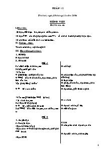 Giáo án Khối 4 - Tuần 12 - Bản đẹp 2 cột