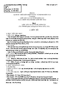 Giáo án Lịch sử Lớp 9 - Bản đẹp 2 cột - Năm học 2013-2014 - Bùi Phú Hưng