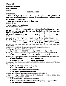 Giáo án Lịch sử Lớp 9 - Tuần 10 - Tiết 10: Kiểm tra 1 tiết - Năm học 2010-2011