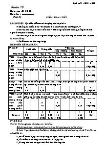 Giáo án Lịch sử Lớp 9 - Tuần 28 - Tiết 36; Kiểm tra 1 tiết - Năm học 2010-2011